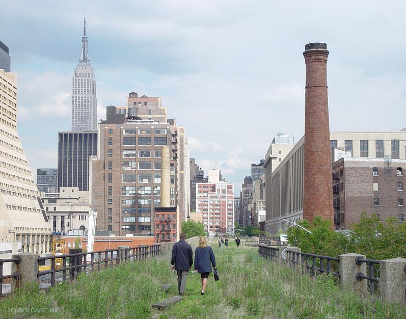 walking The High Line before it was really quite ready for bare calves and high heels