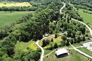 aerial view Pavillion to Kentucky                                 Coffee Tree rondel